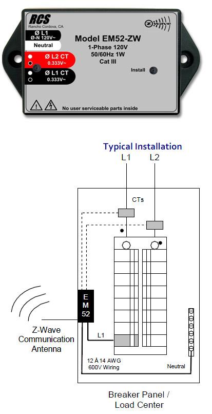 em52 z-wave energy meter