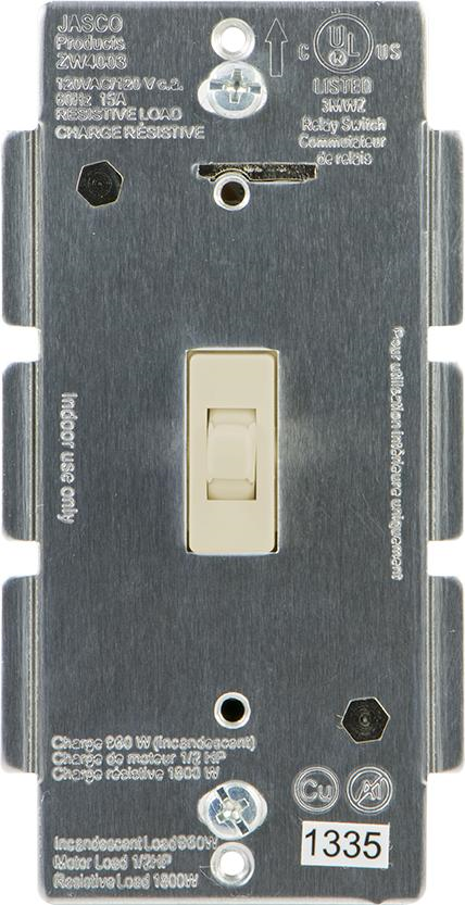 ZWave Product Catalog InWall Toggle Style ONOFF Relay Switch - Jasco Relay Switch