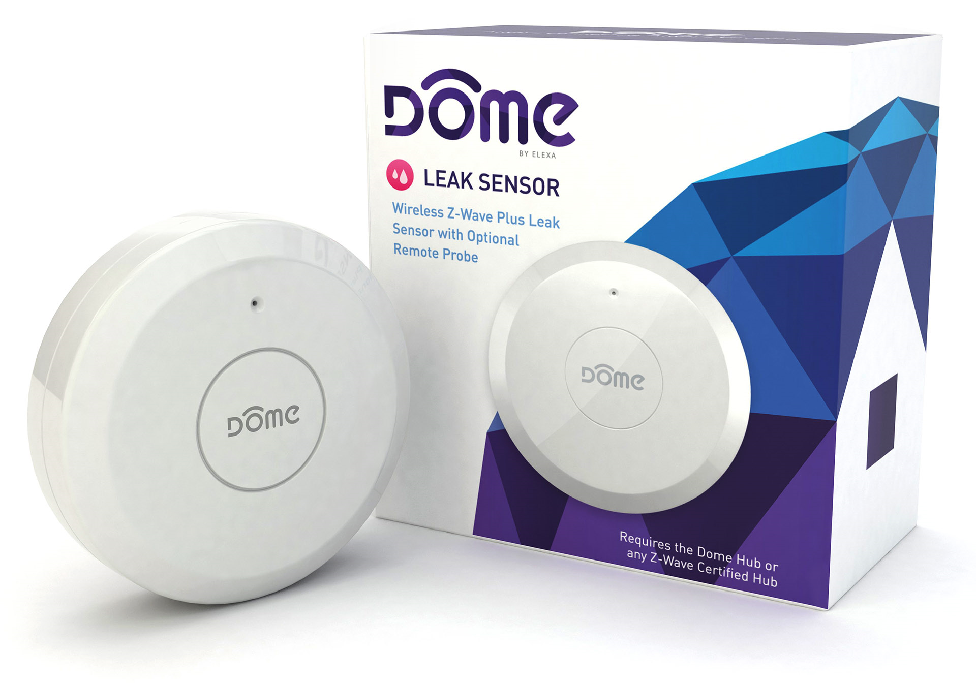 Z Wave Product Catalog Dome Z Wave Plus Leak Sensor