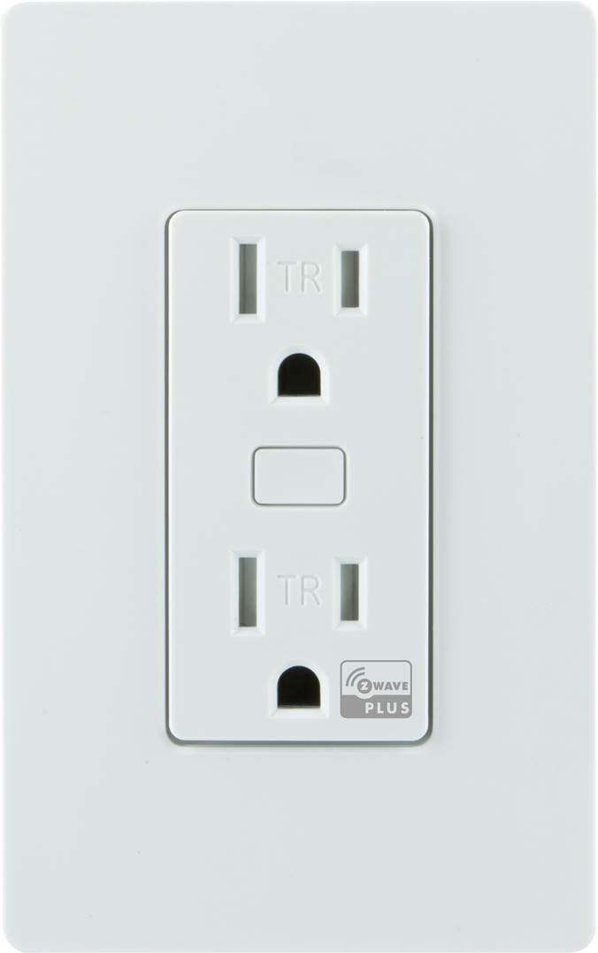 Z Wave Product Catalog In Wall Tamper Resistant Smart Outlet